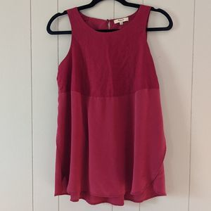 Madewell Silk and Cotton Split Sides Tank